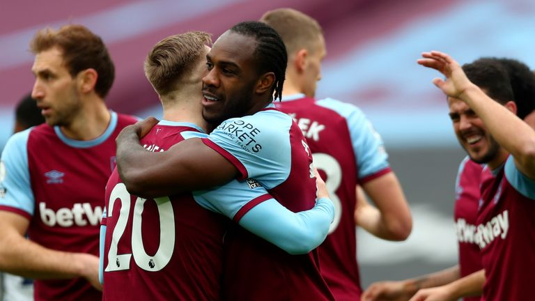 West Ham's Antonio approached by Jamaica