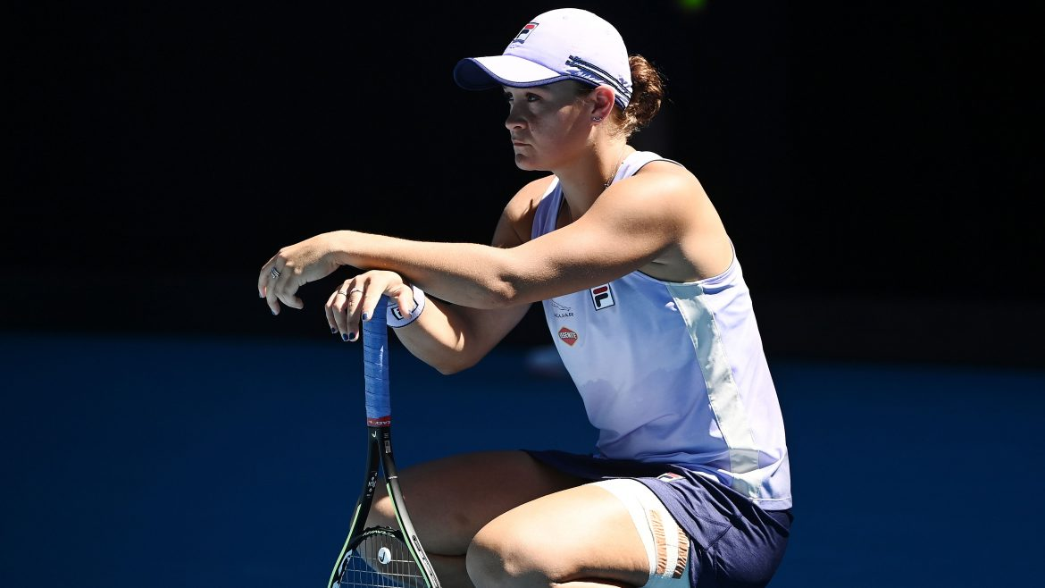 Barty's ranking defence gets off to a shaky start